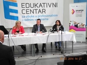 """Konferencija za novinare povodom početka obuka za nezaposlene, u okviru projekta """"Znanje svima"""""""